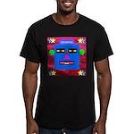 Robot Island Chief Head Men's Fitted T-Shirt (dark