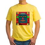 Robot Island Chief Head Yellow T-Shirt