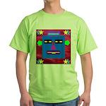 Robot Island Chief Head Green T-Shirt