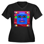 Robot Island Chief Head Women's Plus Size V-Neck D