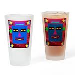 Robot Island Chief Head Drinking Glass