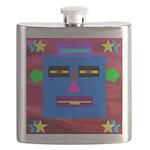 Robot Island Chief Head Flask