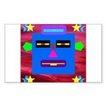 Robot Island Chief Head Sticker (Rectangle 10 pk)