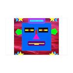 Robot Island Chief Head 35x21 Wall Decal