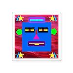 Robot Island Chief Head Square Sticker 3
