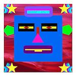 "Robot Island Chief Head Square Car Magnet 3"""