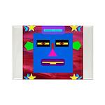 Robot Island Chief Head Rectangle Magnet