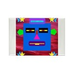 Robot Island Chief Head Rectangle Magnet (10 pack)