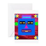 Robot Island Chief Head Greeting Card