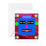 Robot Island Chief Head Greeting Cards (Pk of 20)