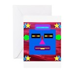 Robot Island Chief Head Greeting Cards (Pk of 10)