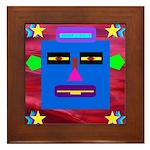 Robot Island Chief Head Framed Tile