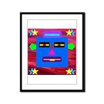 Robot Island Chief Head Framed Panel Print