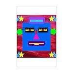 Robot Island Chief Head Mini Poster Print