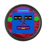 Robot Island Chief Head Large Wall Clock