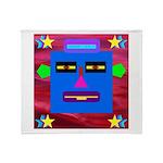 Robot Island Chief Head Throw Blanket