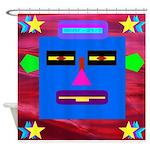 Robot Island Chief Head Shower Curtain
