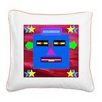 Robot Island Chief Head Square Canvas Pillow