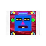 Robot Island Chief Head 5'x7'Area Rug