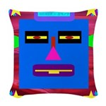 Robot Island Chief Head Woven Throw Pillow