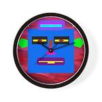 Robot Island Chief Head Wall Clock