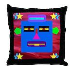 Robot Island Chief Head Throw Pillow