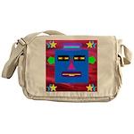 Robot Island Chief Head Messenger Bag