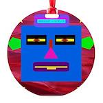 Robot Island Chief Head Round Ornament