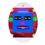 Robot Island Chief Head Ornament (Oval)