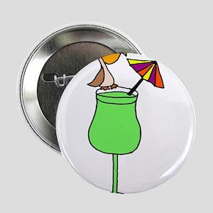 "Pelican on Pina Colada Drink 2.25"" Button"