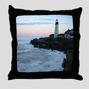 Portland Head Lighthouse at Sunset Throw Pillow