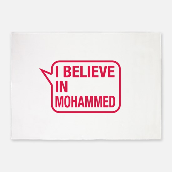 I Believe In Mohammed 5'x7'Area Rug