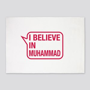 I Believe In Muhammad 5'x7'Area Rug