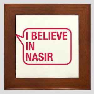 I Believe In Nasir Framed Tile
