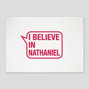 I Believe In Nathaniel 5'x7'Area Rug