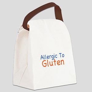 Allergic To Gluten Canvas Lunch Bag