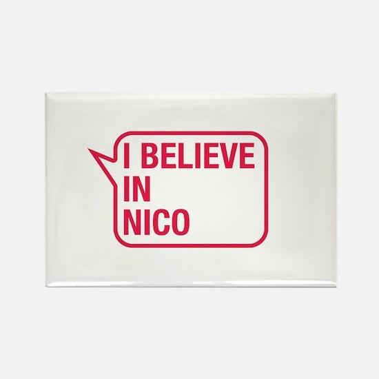 I Believe In Nico Rectangle Magnet