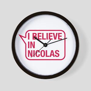 I Believe In Nicolas Wall Clock