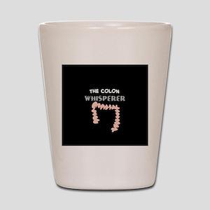 The colon whisperer pillow Shot Glass