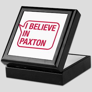 I Believe In Paxton Keepsake Box