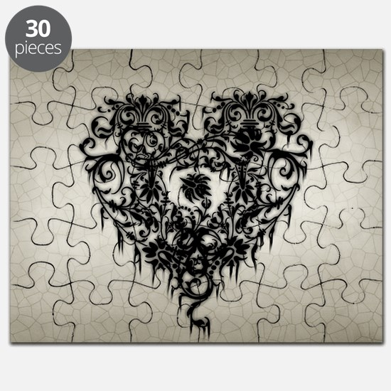 Ornate Gothic Heart Puzzle