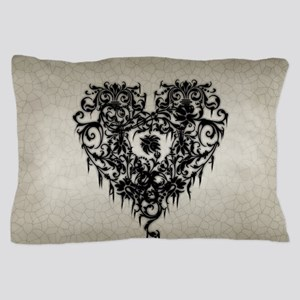 Ornate Gothic Heart Pillow Case
