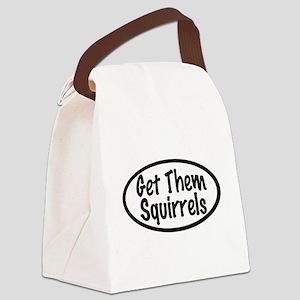 Get Them Squirrels Canvas Lunch Bag