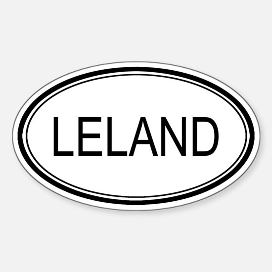 Leland Oval Design Oval Decal
