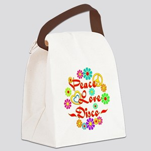 Peace Love Disco Canvas Lunch Bag