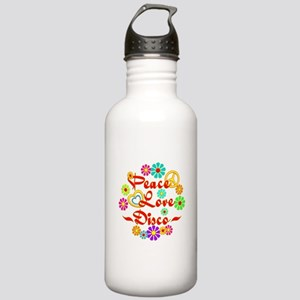 Peace Love Disco Stainless Water Bottle 1.0L