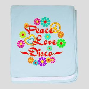Peace Love Disco baby blanket