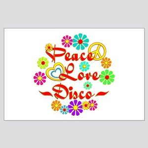 Peace Love Disco Large Poster