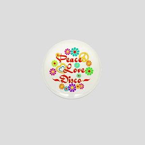 Peace Love Disco Mini Button