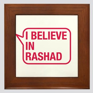 I Believe In Rashad Framed Tile